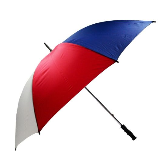 Durable Windproof Stainless Steel Golf Umbrella (Blue/Red/White)