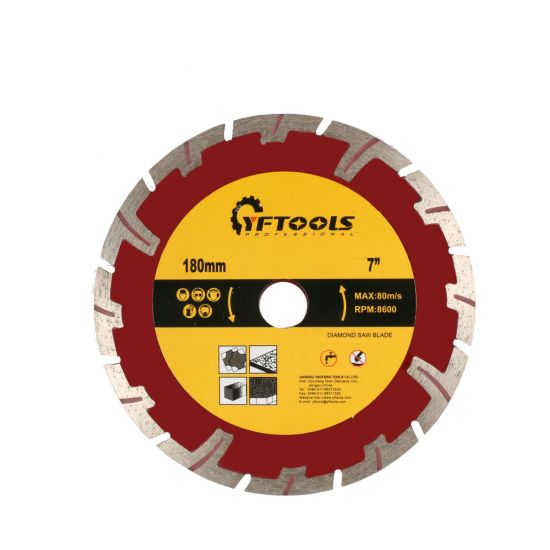 Protective -Tooth Diamond Saw Blade for Stone Cutting 7'' 180mm Circular Blade