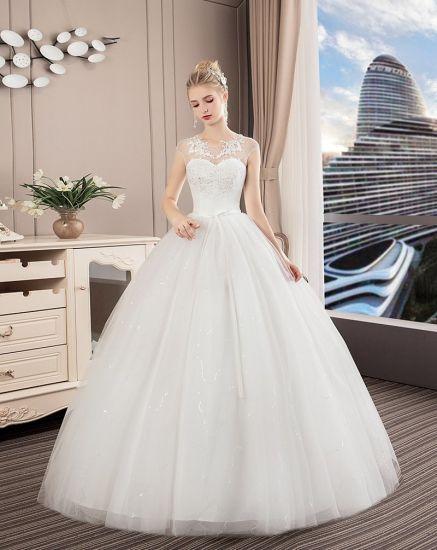 The Latest 2018 White Lace Dress Wedding Dress