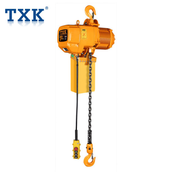 China 3 Phase 380 Volts 1t Electric Chain Hoist with Ce