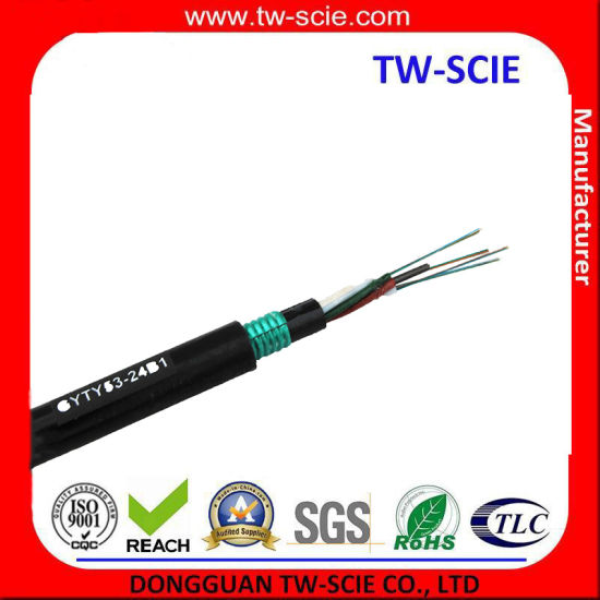 Double Armored Anti-Crush 48 Core Fiber Optic Cable Gyty53 pictures & photos