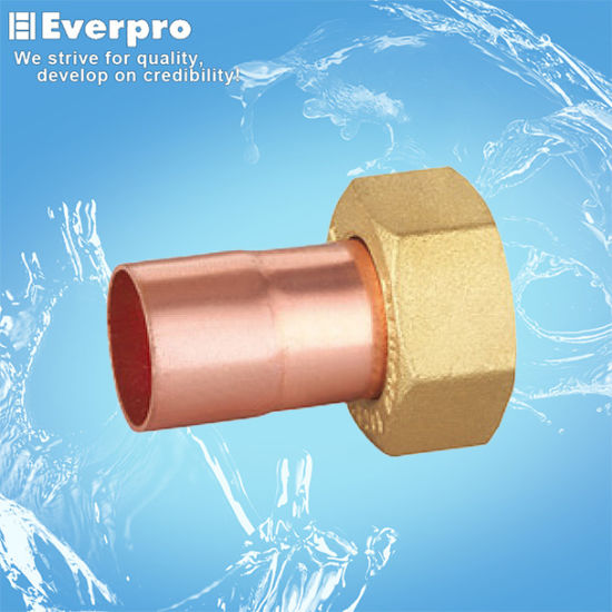 Female Thread Brass Fitting 2 Piece Socket Copper/Brass (FA-RH1512F) pictures & photos