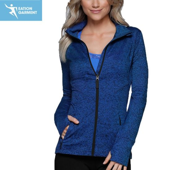 High Quality Women Fitness Wear Blank Sports Jackets with Zipper