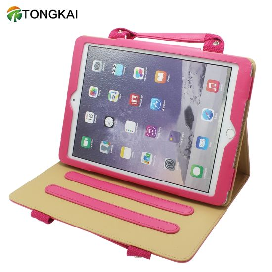 Tongkai Business Leather Tablet Case with Handle pictures & photos