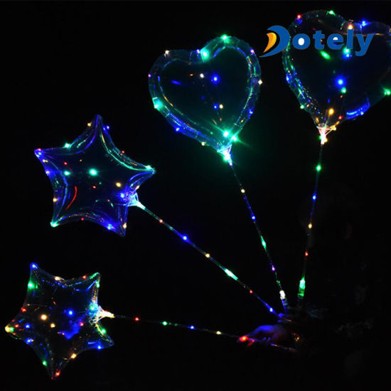 Luminous Colorful Light Party Decorations LED String Heart Shape Bobo Balloon pictures & photos