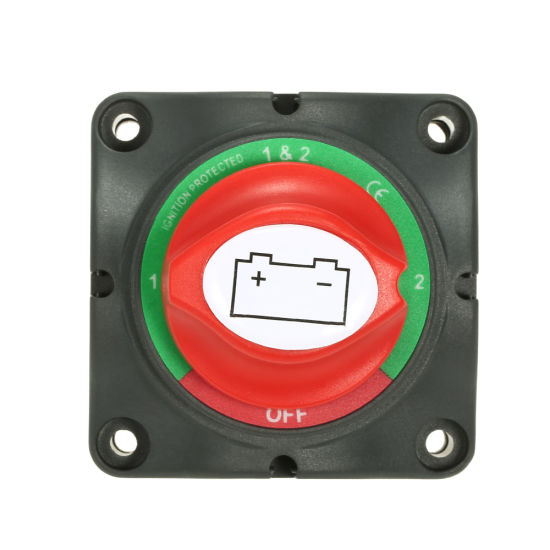 12V//24V Universal Automobile Car Truck Boat Battery Isolator Disconnect Cut Off Power Kill Switch Waterproof Switch-Black /& red