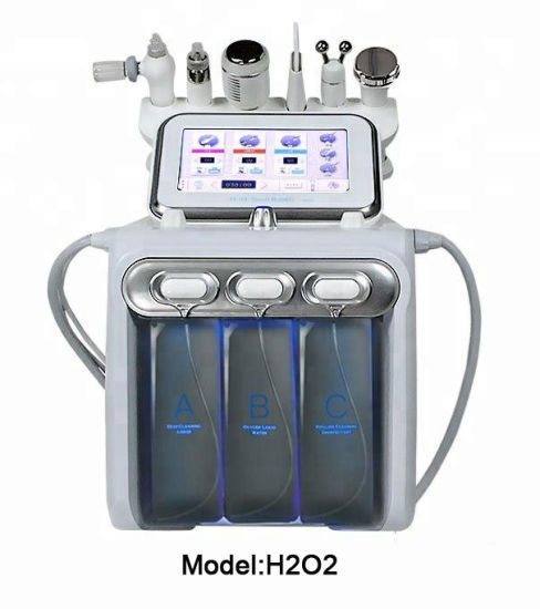 Hydro Dermabrasion Oxygen Jet Gun Ultrasound RF Srubber Cold Hammer Beauty Equipment pictures & photos