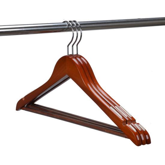 Factory Cheap Anti Slip Slim Wooden Dress Suit Coat Clothes Hangers