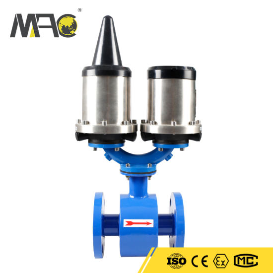 Remote Control GPRS Hart RS485 Hydraulic Application Magnetic Flowmeter