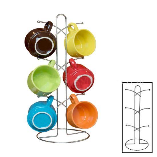Home Garden Farmhouse Metal Mug/Glass/Cup Rack Holder Display Set Wall Mounted Coffee Mug Rack