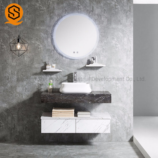 Modern Style White Acrylic Solid Surface Counter Top for Bathroom and Hotel