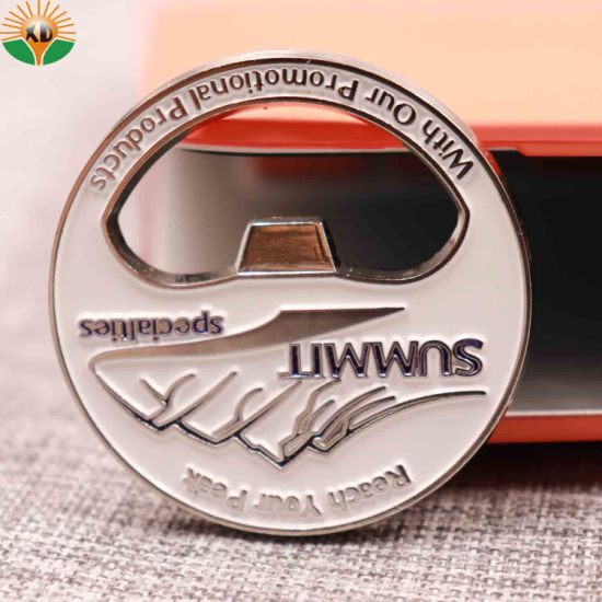 Cheap 3D Detective Gold Challenge Coin with Bottle Opener