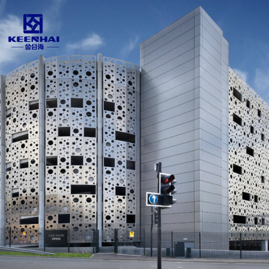 Modern Aluminum Sheet Perforated Facade Panels for Wall Cladding (KH-BH-AP-013)