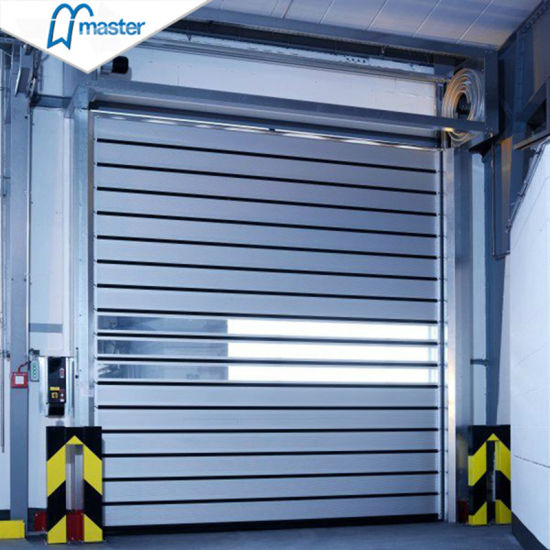 Automatic Fast Thermal Insulated Aluminum Alloy High Speed Performance Spiral Door/ Fast Roller Shutter Door with PU Foaming