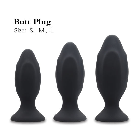 3 Sizes in Pack 100% Safe Silicone Butt Plug Anal Plugs Unisex Adult Sex Toys for Men/Women Trainer Massager