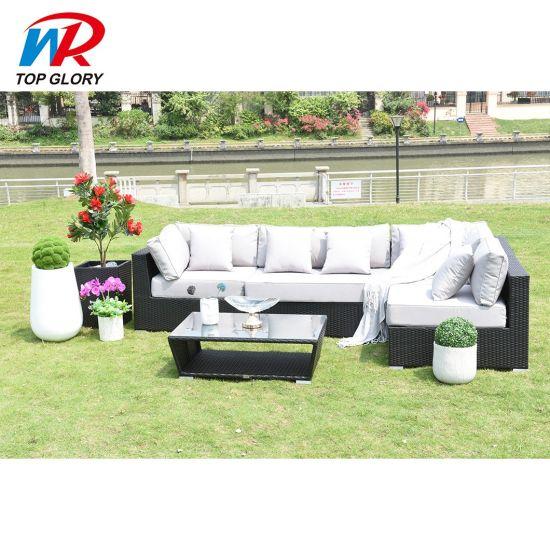 Modern Leisure Wholesale Custom Outdoor Garden Patio Home Rattan Sofa Set Furniture