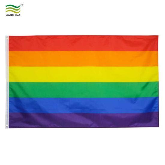 RAINBOW CALIFORNIA  3/'X5/' NOVELTY POLY FLAG