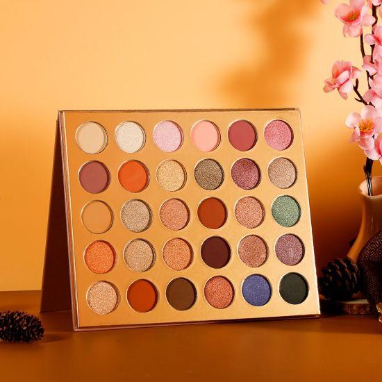 Private Label 30 Colors Cosmetic Waterproof Custom Makeup Glitter Eyeshadow Palette