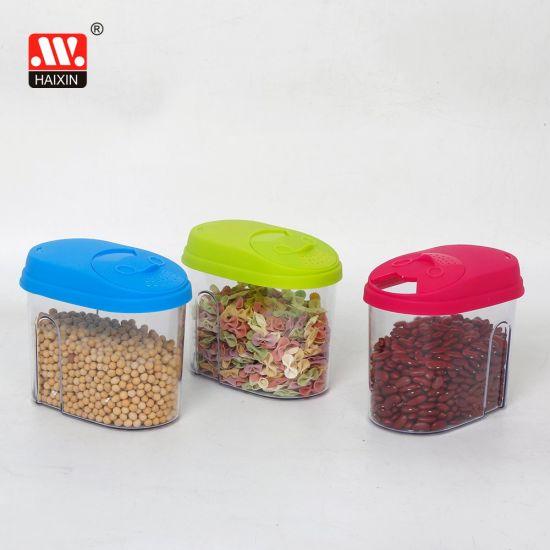 Plastic Food Storage Box with Lid for Kitchen Grain Storage