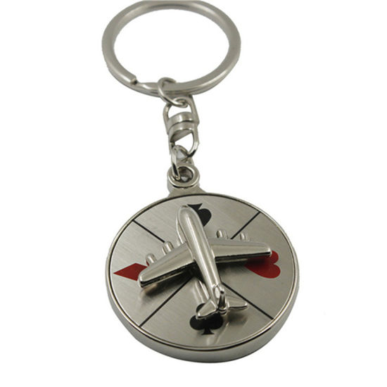Fashion Couple Metal Crafts Custom Logo Blank Heart-Shaped Keychain