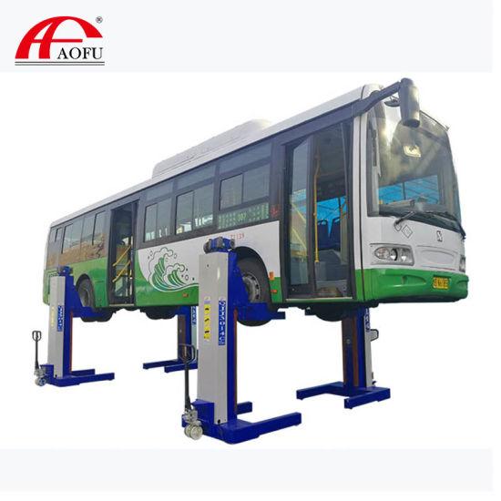 30t Bus &Truck Lift Heavy Duty Vehicle Lift Combined 4 Post Parking Hoist Mechanical Mobile