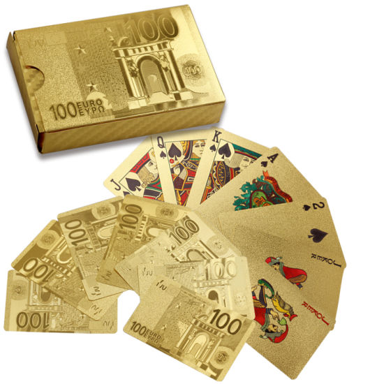 Wholesale Magic Waterproof Print Plastic Card Game Black Yellow Gold Foil Table Poker Playing Card