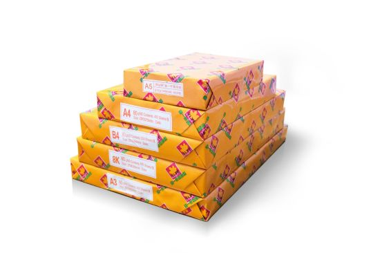 Golden Yiye Pure Wood Pulp A4 70GSM/80GSM Copy Paper for Printer