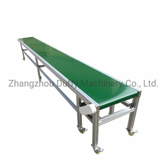 PVC Conveyor Belt Food Grade Material Handling Flat Belt Conveyor