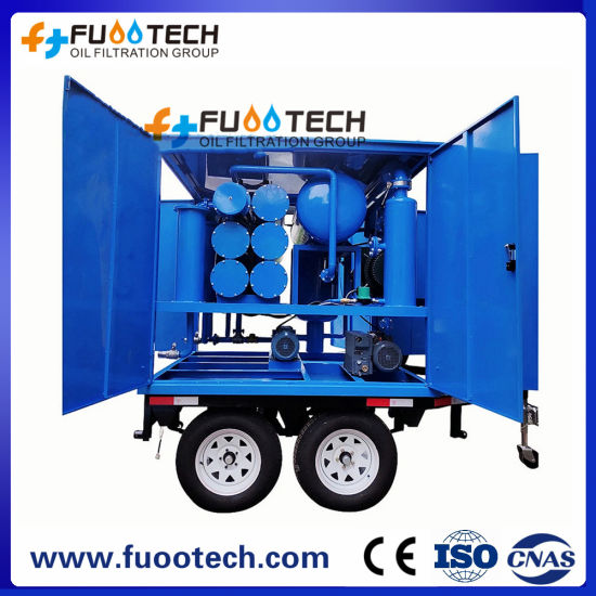 Double-Axle Trailer Mounted and Fully Enclosed Type Online Transformer Oil Filtration Machine