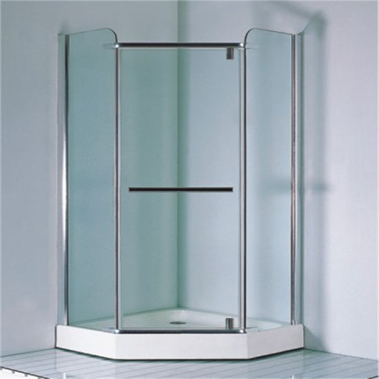 Chromed Simple Complete Glass Shower Cabin Box 900 pictures & photos