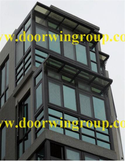 Wood-Alu Casement Window with Double Glazing