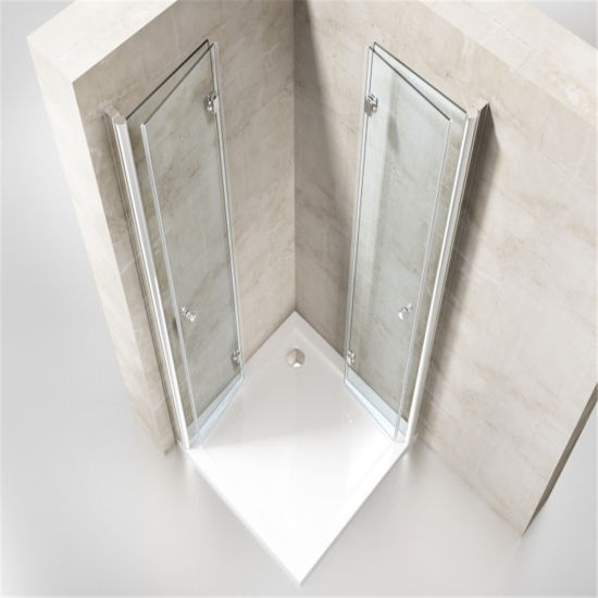 Modern 8mm Tempered Glass Shower Enclosure with Hinged for Home/ Hotel