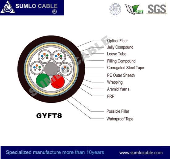 24cores Gyfts Non-Metallic Outdoor Optical Fiber Cable