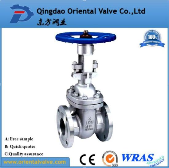 Flanged Stainless Steel Gate Valve for Oil Gas and Water Pn16 Dn200 pictures & photos