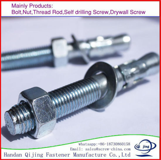 Stainless Steel Wedge Anchor Bolt M12X50mm pictures & photos