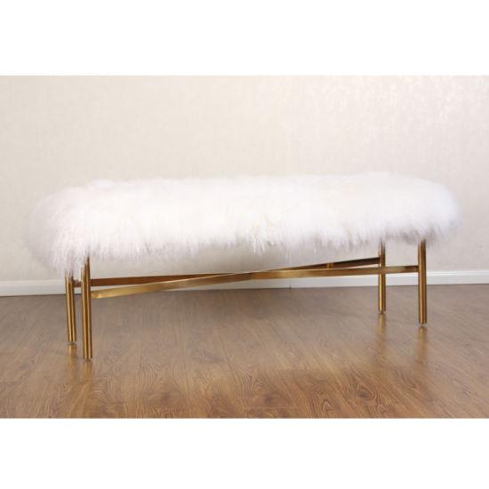 Modern Indoor Metal Bedroom Long End Bench Fur Stool China Fur Bench Modern Bedroom Bench Made In China Com