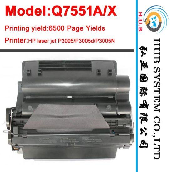 Laser Toner Cartridge for HP Q7551A/Q7551X (LaserJet M3027)