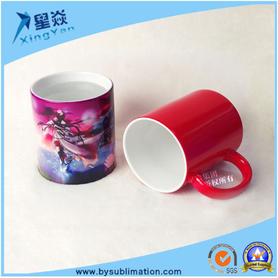 China Red Sublimation Color Changing Mug China Sublimation Mug