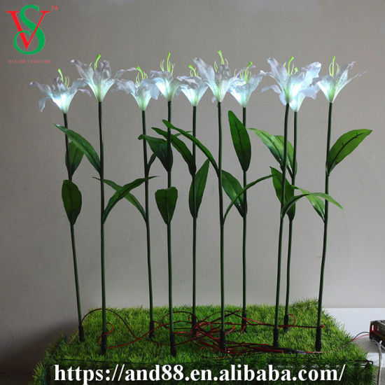 Wedding Deocoration Flowers LED Artificial Lily Flowers