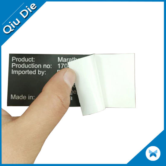 Removable thermal transfer adhesive labels stickers for plastic bags