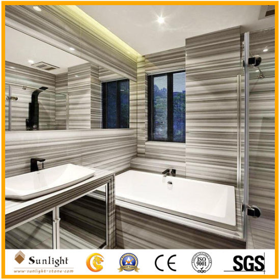Natural Equator Marmara Straight White Wooden Marble Tiles for Flooring, Wall