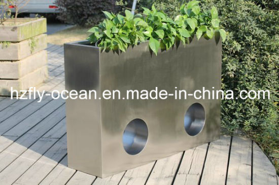 China Stainless Steel Flower Pot Rectangular Planter China