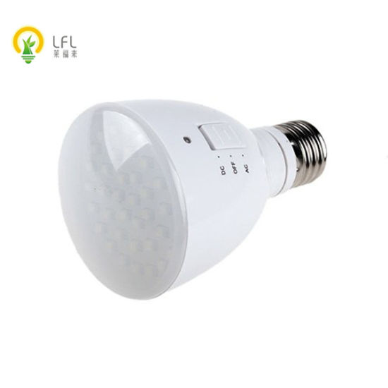 4W Chargeable 6hours LED Emergency Bulb E27 Base Indoor and Outdoor Using