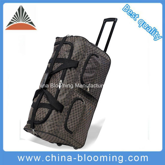 Large Polyester Travel Traveling Sports Outdoor Trolley Rolling Luggage Bag 02209357d9bc6