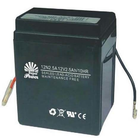 Motorcycle Battery 12V 2.5ah with CE UL ISO9001 ISO14001 Certificate