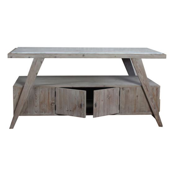 Miraculous White Marble Top Rustic Recycled Wood Kitchen Cabinet Island Machost Co Dining Chair Design Ideas Machostcouk
