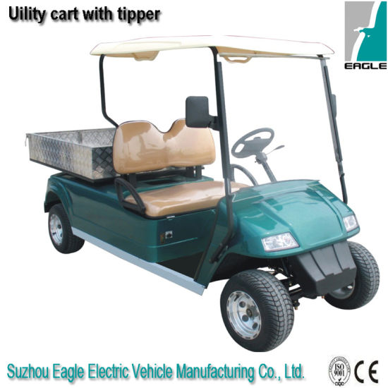 Electric Utility Cart with Hydraulic Lifted Cargo Box pictures & photos