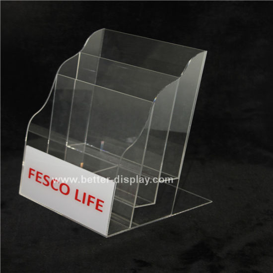 Clear Acrylic Brochure Holder with Logo (BTR-H6004)