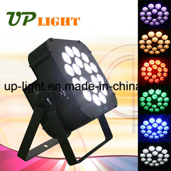 Stage New 18PCS 18W Rgbwauv 6in1 Flat LED PAR Light pictures & photos