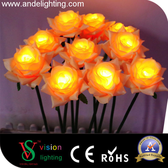 led rose flowers lights for christmas decoration